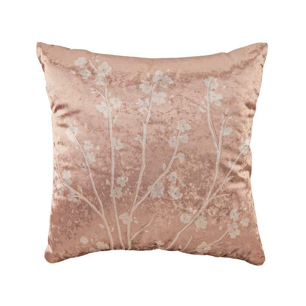 LC Lauren Conrad Velvet Bloom Throw Pillow