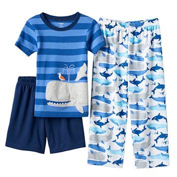 Boys 4-12 Carter's Whale 3-Piece Pajama Set