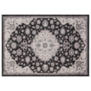 Concord Global Lara Center Medallion Framed Floral Rug