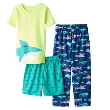 Boys 4-12 Carter's Shark 3-Piece Pajama Set