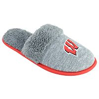 Women's Wisconsin Badgers Sherpa-Lined Clog Slippers