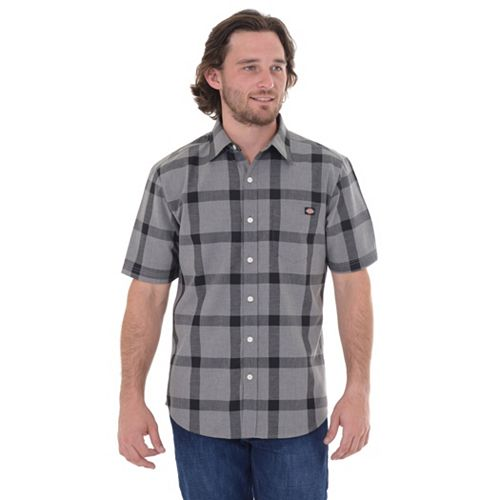 Men's Dickies Classic-Fit Plaid Button-Down Shirt