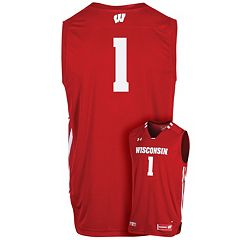 Men's Under Armour Wisconsin Badgers Replica Basketball Jersey