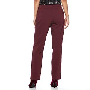 Women's Apt. 9® Torie Midrise Curvy Straight-Leg Dress Pants