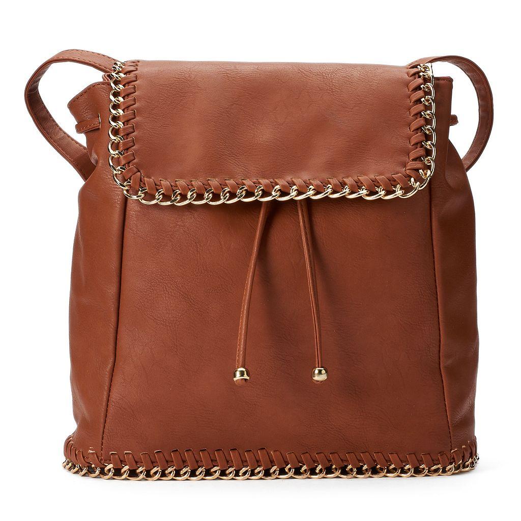 Yoki Chain Edge Flap Backpack