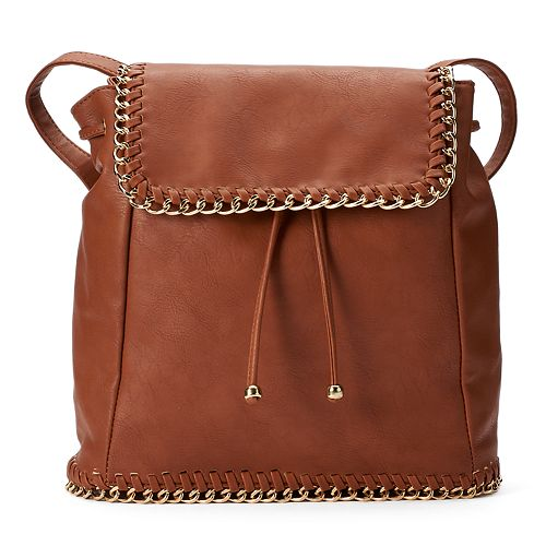 Yoki Chain Edge Flap Backpack