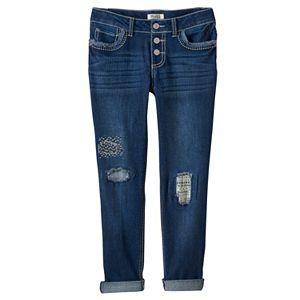 Girls 7-16 & Plus Size Mudd® Destructed Crop Boyfriend Jeans