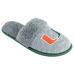Women's Miami Hurricanes Sherpa-Lined Clog Slippers