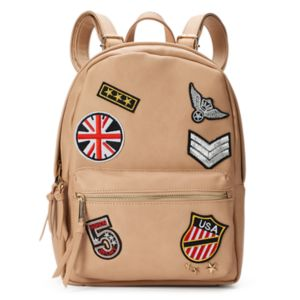 Yoki Embroidered Patches Backpack