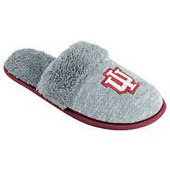 Women's Indiana Hoosiers Sherpa-Lined Clog Slippers