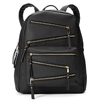 Yoki Zigzag Zipper Backpack