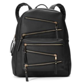 Yoki Zigzag Zipper Backpack