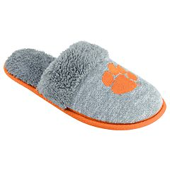 Women's Clemson Tigers Sherpa-Lined Clog Slippers