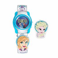 Disney's Frozen Anna & Elsa Kids' Digital Charm Watch