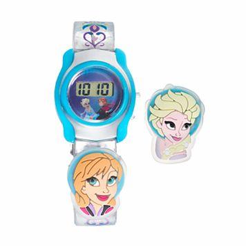 Disney's Frozen Anna & Elsa Kids' Digital Charm Watch