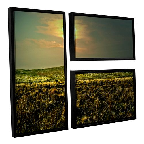 ArtWall Corner Pocket Framed Wall Art 3-piece Set