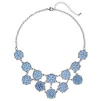 Blue Disc Statement Necklace
