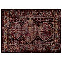 Concord Global Diamond Antique Framed Rug