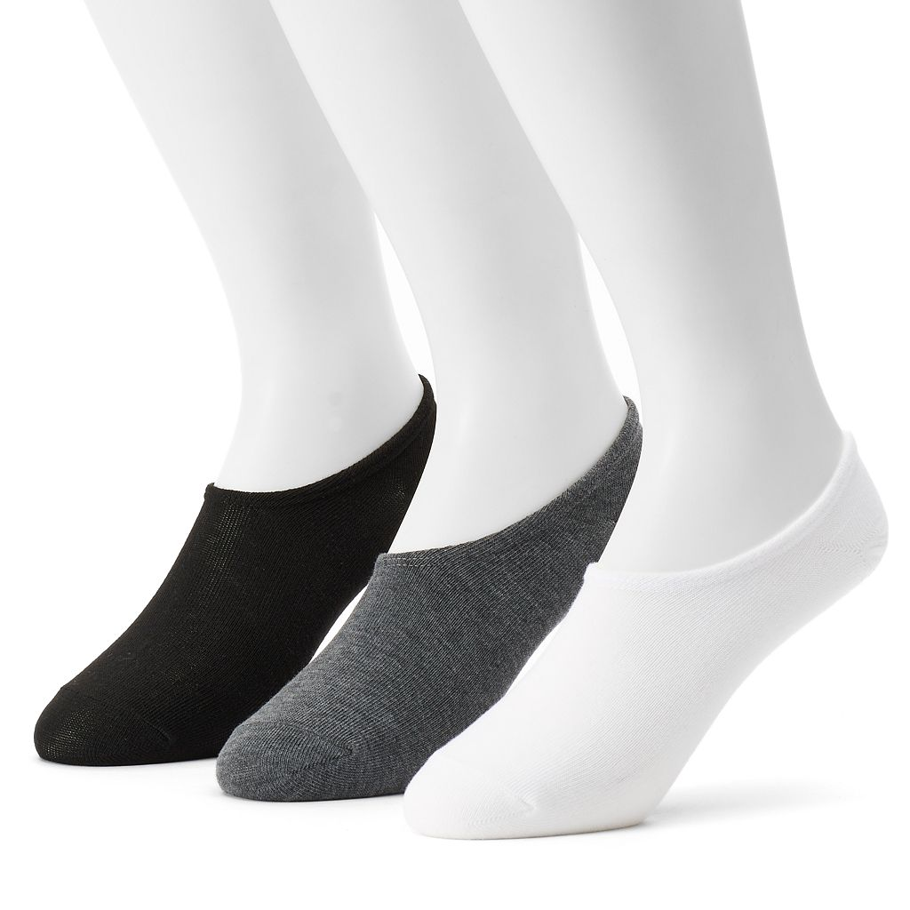 Men's Converse 3-pack Made For Chucks Solid Flat-Knit Liner Socks