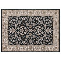 Concord Global Kashan Bergama Framed Floral Rug
