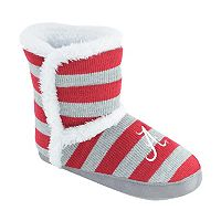 Women's Alabama Crimson Tide Striped Boot Slippers