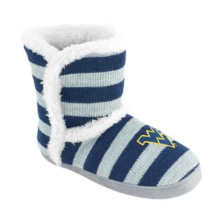 Women's West Virginia Mountaineers Striped Boot Slippers