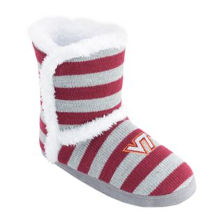 Women's Virginia Tech Hokies Striped Boot Slippers