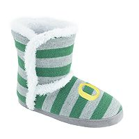 Women's Oregon Ducks Striped Boot Slippers