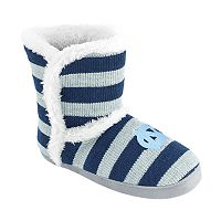 Women's North Carolina Tar Heels Striped Boot Slippers
