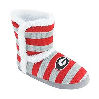 Women's Georgia Bulldogs Striped Boot Slippers