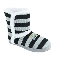 Women's UCLA Bruins Striped Boot Slippers