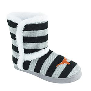 Women's Texas Longhorns Striped Boot Slippers