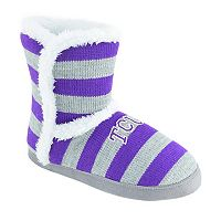 Women's TCU Horned Frogs Striped Boot Slippers
