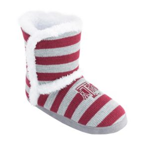 Women's Texas A&M Aggies Striped Boot Slippers