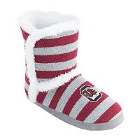 Women's South Carolina Gamecocks Striped Boot Slippers