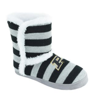Women's Purdue Boilermakers Striped Boot Slippers