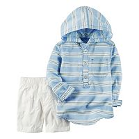 Toddler Boy Carter's Hooded Henley & Shorts Set