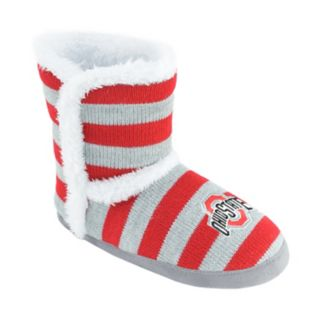 Women's Ohio State Buckeyes Striped Boot Slippers
