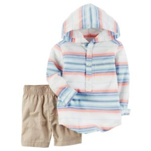 Baby Boy Carter's Hooded Henley & Shorts Set