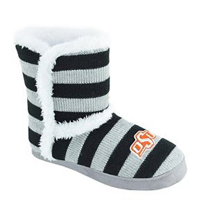 Women's Oklahoma State Cowboys Striped Boot Slippers