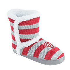 Women's Oklahoma Sooners Striped Boot Slippers
