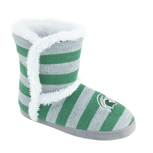 Women's Michigan State Spartans Striped Boot Slippers