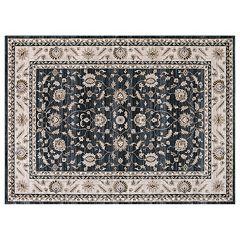 Concord Global Kashan Mahal Framed Floral Rug