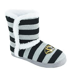Women's Missouri Tigers Striped Boot Slippers