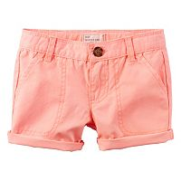 Toddler Girl Carter's Roll-Cuff Shorts