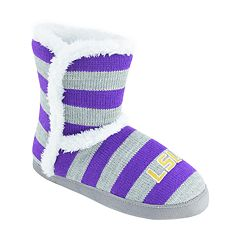Women's LSU Tigers Striped Boot Slippers