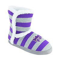 Women's Kansas State Wildcats Striped Boot Slippers