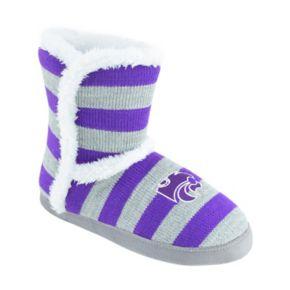 Women's Kansas State Wildcats Striped Boot Slippers