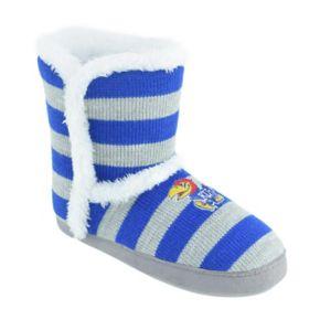Women's Kansas Jayhawks Striped Boot Slippers