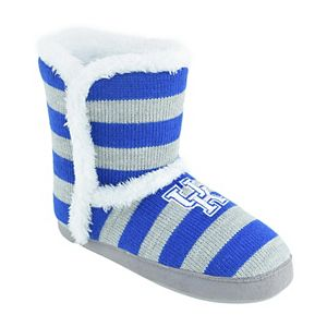 Women's Kentucky Wildcats Striped Boot Slippers